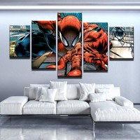 Spiderman Comic Canvas Set