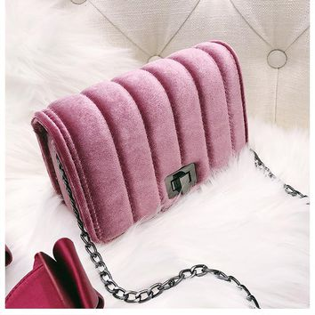 Women Bag Luxury Flap Women Handbags Purse And Clutch  Velvet Shoulder  Bags