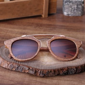 Classic Wood Printed Sunglasses