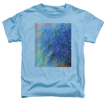 Blue Flowers Abstract - Toddler T-Shirt