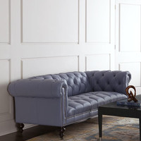 Old Hickory Tannery Lennon Tufted Leather Sofa