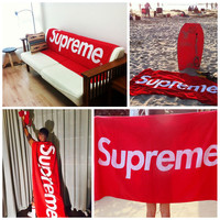 Free Shipping Supreme towel/Supreme blanket 100% Cotton High Quality Throw Blanket for sofa Bath Towel, 100*180CM