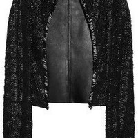 Antonio Berardi | Tweed and leather jacket | NET-A-PORTER.COM