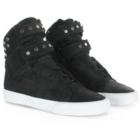 Baskets Supra Femme Society Black White - LaBoutiqueOfficielle.com