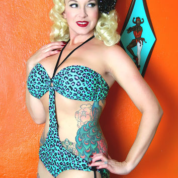 Bedrock Betty Bandeau Monokini | Get Go Retro