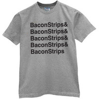 Funny T Shirt Bacon Strips Bacon Strips Humor Offensive Rude Shirt High Quality Gift TShirt