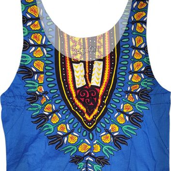 The African Blues Crop Top