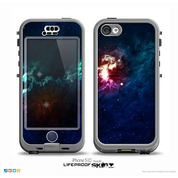 The Glowing Colorful Space Scene Skin for the iPhone 5c nüüd LifeProof Case