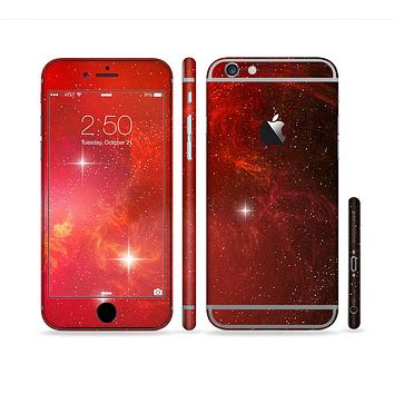 The Glowing Red Space Sectioned Skin Series for the Apple iPhone 6