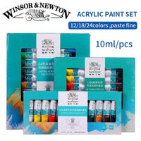 DCCKL6D Winsor&Newton Professional Acrylic Paints Set 12/18/24 Colors 10ML Hand Painted Wall Drawing Painting Pigment Set Art Supplies
