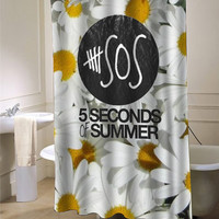 5sos sun flower  Shower Curtain