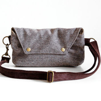Traveler in Brown Tweed and Corduroy - Made to Order