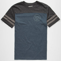 Rvca Hail Mary Mens T-Shirt Navy  In Sizes
