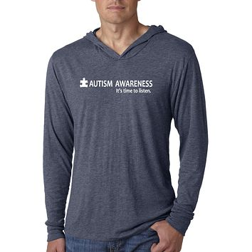 Buy Cool Shirts Autism Awareness Time to Listen Lightweight Hoodie
