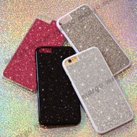 New Trend Real Glitter Sparkle Luxury Bling Cover Case for iPhone Sony Samsung