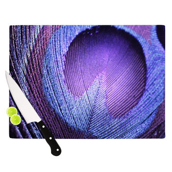 "Monika Strigel ""Purple Peacock"" Lavender Cutting Board"