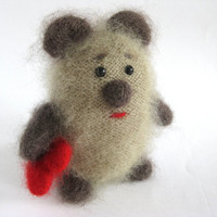 Mohair bear Teddy Bear Stuffed animal Knitted teddy by MaybushMill