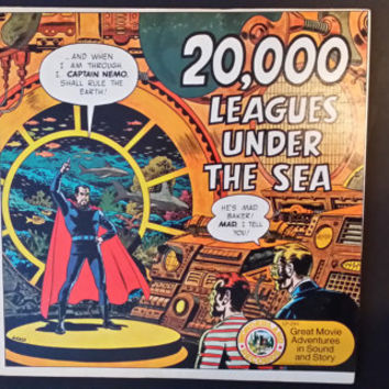 Vintage 20000 Leagues Under the Sea Great Movie Adventures in Sound and Story Record Wonderland Records 1974 AA Records Jules Verne