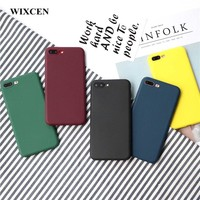 Wixcen Retro Winered Yellow Candy Phone Case for Iphone 8 X 7 7plus 6 6s 6splus Case