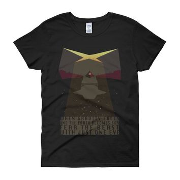 When Gravity Falls Conspiracy And Earth Become Sky Women'S T Shirt