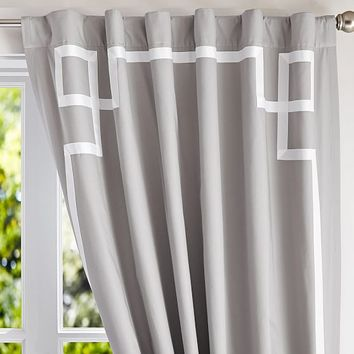 Emma Ribbon Trim Blackout Drape