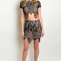 Lace Crop Top & Skirt
