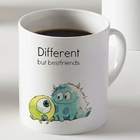Different but Best Friends Monsters Inc Mug Two Sides