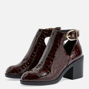 Berlin Buckle Croc Boots - Heels - Shoes