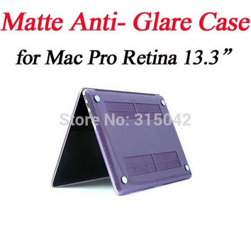 "Free ship 2pcs/lot for MacBook Pro Retina13.3"" Matte hard case/cover,for apple laptop Anit Glare Protective shell,11 color"