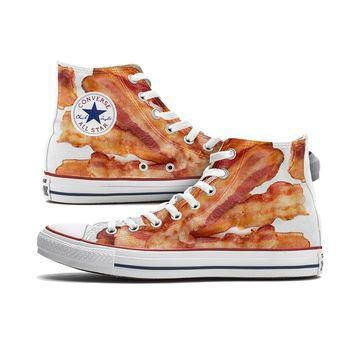 Bacon Converse Chucks High Tops