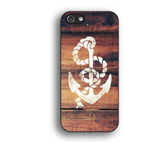 wood,anchor,IPhone 5s case,IPhone 5c case,IPhone 4 case, IPhone 5 case ,IPhone 4s case,Rubber IPhone case