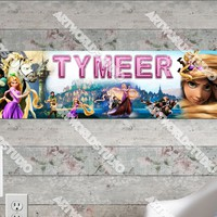 Personalized/Customized Tangled Movie Poster, Border Mat and Frame Options Banner 127