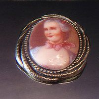 Vintage W. Germany Portrait Brooch Victorian Style Jewelry Fashion Accessories For Her