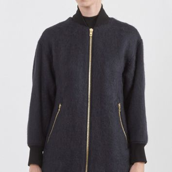 Rag & Bone Dot Bomber Jacket in Navy | The Dreslyn