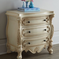 Nicolette Cream Nightstand