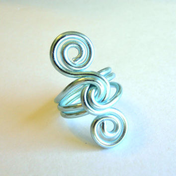 Wire S Knot Ring  Custom Made You Choose The by refreshingdesigns