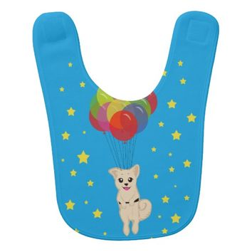 Puppy with Balloons Bib