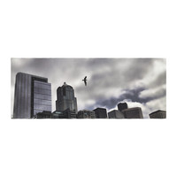 """Sylvia Cook """"Seattle Skyline"""" City Clouds Bed Runner"""