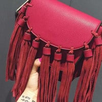 Red Fringed Bag
