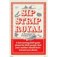 Sip strip royal drinking game - novelty - gifts - men