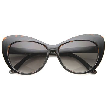 Women's 1950's Retro Oversize Cat Eye Sunglasses 9858