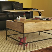 Rustic Storage Coffee Table - Raw Mango