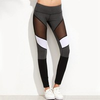 Geometric Mesh Leggings