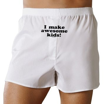 I Make Awesome Kids Front Print Boxers Shorts by TooLoud