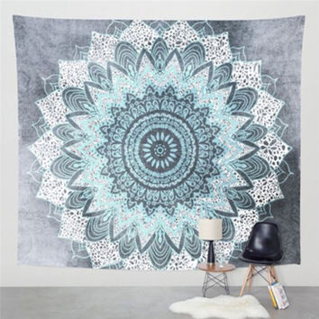 150cm*210cm Bohemian Hippie Wall Tapestry Beach Towel Shawls Wall Carpet Elephant Mandala Indian Hanging Tapestry Home Decor