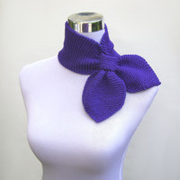 Knitted neckwarmer ascot scarf retro fifties style pull by jarg0n