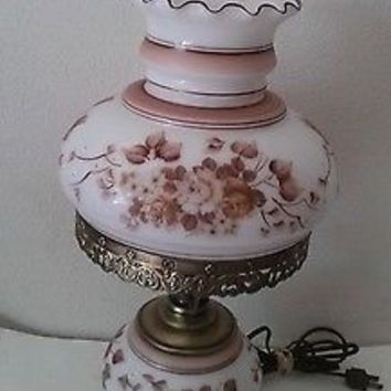 Accurate Casting Co Hand Painted Gone with the Wind Hurricane Lamp