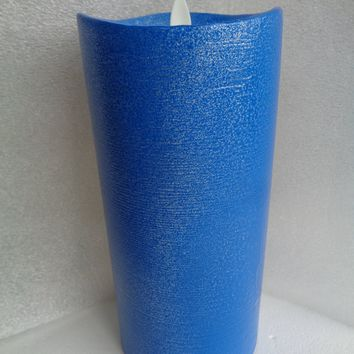 """Luminara 9"""" Blue Flameless Candle with Remote"""