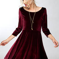 Lap of Luxury Velvet Dress - Two Colors - FINAL SALE
