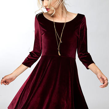 Lap of Luxury Velvet Dress - Two Colors!